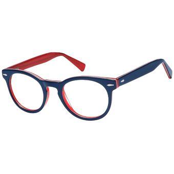 6a171ce2b0d01 Monturas Acetato Oftálmicas Para Lentes Opticos Formulados - Gafas Marco  Redondas Round - A95G - Azul