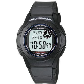 59f65795d78a Reloj Casio F200 Caucho Negro- Diseño Juvenil