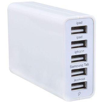 Compra Louiwill 5 Puertos De Alta Velocidad USB Cargador De Escritorio Para IPhone, IPad Samsung HTC Nokia (blanco) online | Linio México
