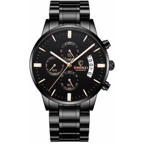 632ba6db6104 CHENXI reloj de pulsera de cuarzo para hombres multifuncional-Azul
