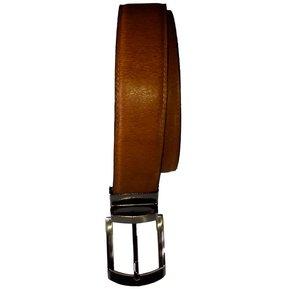 5507d315283e Correa Cinturón Doble Fas Cuero Hombre Caballero Hebilla Reversible Miel