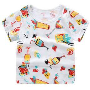209623524d7a9 Verano Niños Camisetas Dibujos Animados - Bebida Fría Blanco