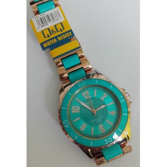90330b2ca09d Compra Reloj Q q Para Dama F461-810Y Pulso En Acero Bicolor Original ...