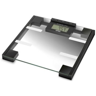 Balanza Vidrio Baño Digital  150kg Medidor Masa Atma Ba7503e-Gris