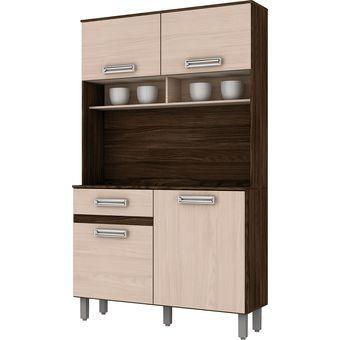 Compra Mueble Cocina Briz Kit Compacta 4 Puertas 1 Cajón Moka/Fendi ...