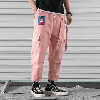 Pantalones Cargo De Haren De Color Rosa Pantalones Para Correr Informales Para Hombre Pantalones Tacticos Holgados De Cinta Harajuku Ropa De Calle Pantalones Hip Hop Para Hombre Pink Linio Peru Un055fa195tydlpe