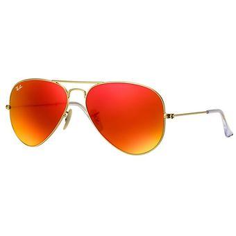 437019a297 Agotado Lentes de Sol Ray Ban Aviator RB3025 112/69 -Naranja con Dorado