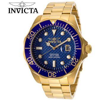 70186d9e519 Compra Reloj Invicta Pro Diver 14357 Acero Inoxidable - Dorado Azul ...