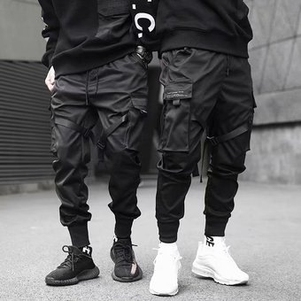 Pantalones Color Negro Cargo Pantalones Haren Para Hombre Moda Urbana Hip Hop Pies Elasticos Pantalones De Chandal Harajuku Pantalones Comodos Wot Black Linio Peru Ge582fa1f349tlpe