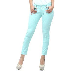 USAFRICA - Pantalón Drill Mujer Labrado - Verde Menta - 28 8152fd0f6d94