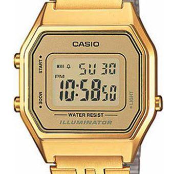 fbbb5d3dc74a Agotado Reloj CASIO VINTAGE LA680WGA-9VT Casio Collection Digital Retro  ILUMINATOR-Dorado Dorado