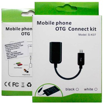 Cable Otg On The Go S-K07 Micro Usb V8 Para Android