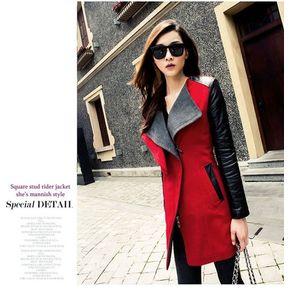 38eb4883e Chaqueta De Invierno Para Mujer Parka Trench Windbreaker-rojo