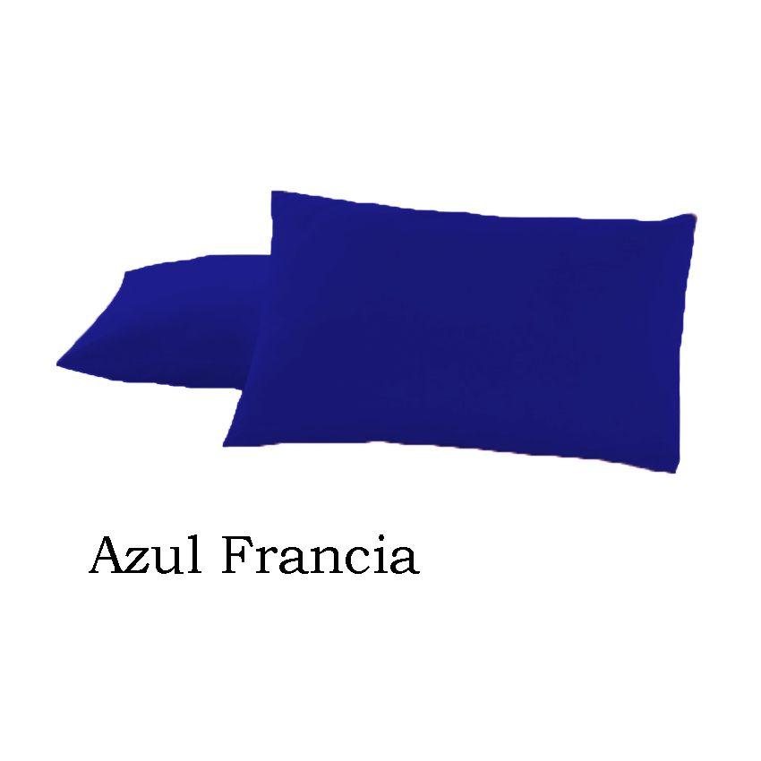Funda De Almohada 50x70 Percal AZUL FRANCIA