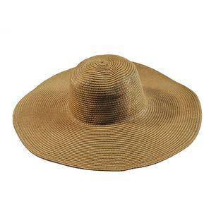 E-Thinker Sombrero Para El Sol Para Playa Sombrero Grande Gorra-CAFÉ 1c3517fbdd3