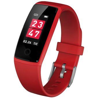36eb2602c92b Exchant Pulsera Inteligente V10 Bluetooth 4.0 Smart Wristband IOS - Rojo