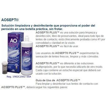 209cb0a455c5a Compra Ao Sept Plus Solución Limpiadora Pupilentes 360ml Solotica ...