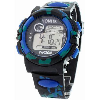 a65770e06234 Agotado BLACKMAMUT Reloj Digital Estilo Militar Correa De Caucho Negra Con  Alarma Cronómetro Fecha Y Luz.
