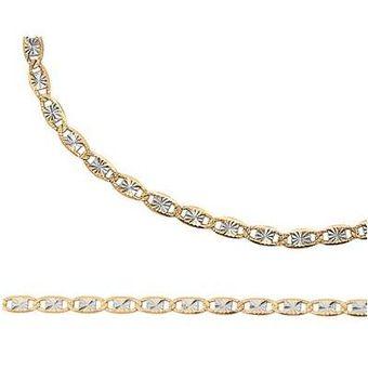 37b4c1c4ffc7 Cadena Valentino 40pav' Oro Amarillo Y Blanco 14k 60 Cm Cristal Joyas
