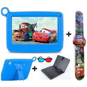 771a9ebf90 Tablet Niños Android + Teclado + Reloj +Funda + Gafas Azul.