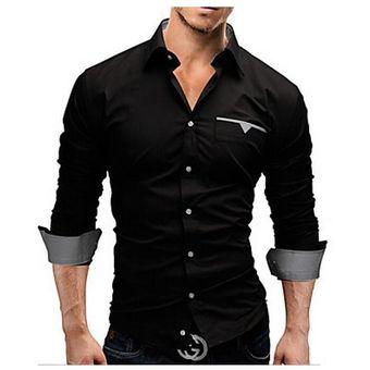 la mejor calidad para ahorre hasta 80% entrega rápida Camisa Slim Fit Hombre Pocket-Negro