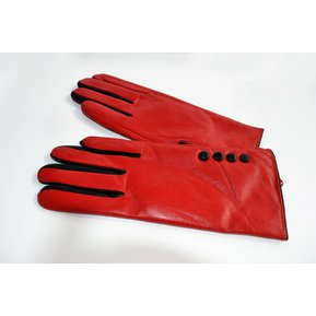 b6c71a92a253 Guante Cuero In Pelle botones con dedos Moda In Pelle