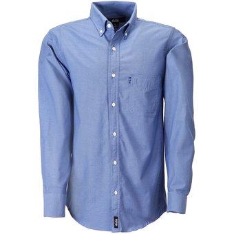 0ca8d9063b Camisa Hombre Manga Larga Oxford Hombre Uniforme Empresarial Ejecutivo  Oficina Color-Azul Francia