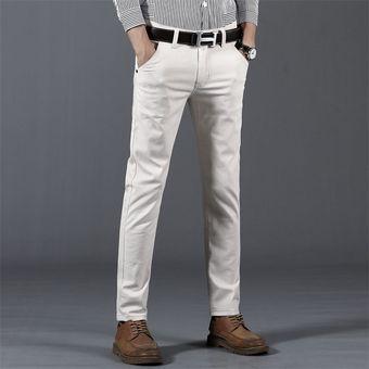 Pantalones Casuales De Para Hombre Primavera Nuevos Pantalones Rectos Elasticos Informales De Moda De Negocios Color Gris Blanco Caqui Azul Marino Chun Beige Linio Peru Ge582fa0fqlmrlpe