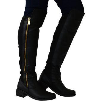 Compra Botas Para Mujer Extralargas OutFit Cardiff Negro online ... 2732952c2ead