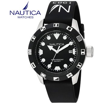 Compra Reloj Nautica NSR 100 NAD09509G Acero Inox Correa de Silicona ... c13c7065d71c