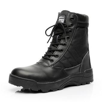 Edis - Calzado de protección de Piel para hombre, color Negro, talla 44