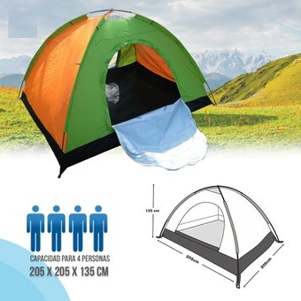 compra carpa camping armable semi impermeable 4 personas colores