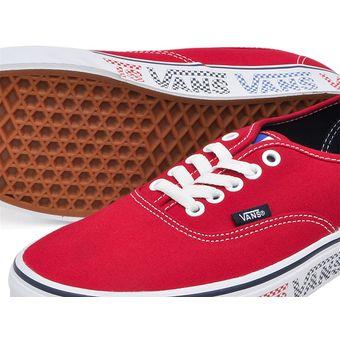 Zapatos rojos Vans Authentic infantiles mKyaQK