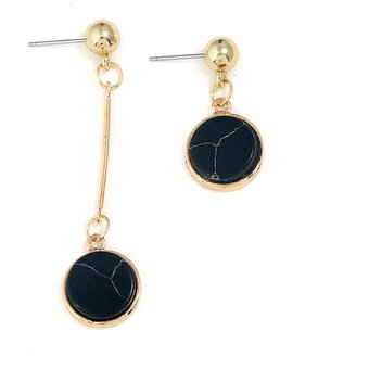 bastante agradable 6d3e2 210bd Pendientes Largos Para Mujer Lujo Joyas De Fiesta Un Par-negro