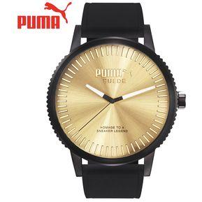 e3e963167fc8 Reloj Puma Suede PU104101007 Acero Inox. Correa De Gamuza y Cuero - Negro  Dorado