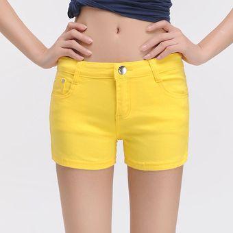 Blanco Shorts Vaqueros Para Mujer Verano Elastico Pantalones Mini Short Mujer Pantalones Cortos Casuales Mujer Denim Pantalones Vaqueros Cortos De Verano De Las Mujeres Yellow Linio Peru Un055fa0mr6lflpe