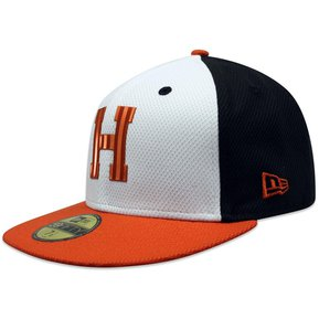 Gorra New Era 5950 LMP Naranjeros Liquid Chrome Blanco Naranja 6c2fbf41c6d