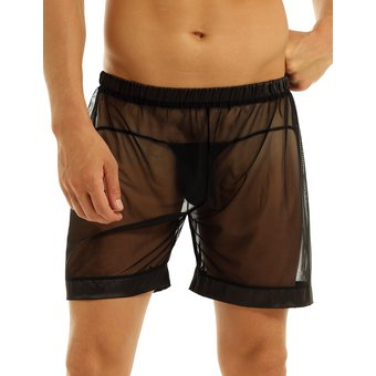 Iefiel Hombre Short De Malla Sexy Boxer Transparente Pijama Linio Mexico Ie351fa18ulk1lmx