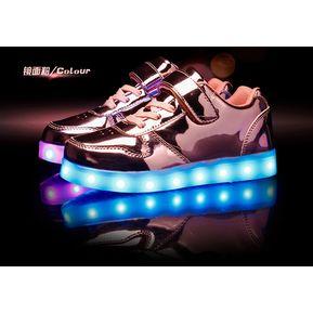 90e6a53d Zapatos Niño De Deporte Luces Colorido Zapato Calzado-rosa