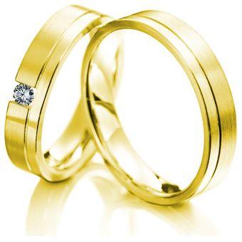 f547716eeb2d Argollas De Matrimonio Fashion Boutique De México Modelo A27 De Oro  Amarillo De 14K Con 1