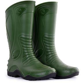 d8239541f1a Botas de lluvia impermeables Dakar Motociclismo Unisex Idecal Verde Olivo