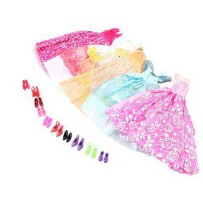EH 5Pcs Hechos A Mano De La Princesa Vestido Del Partido Vestidos Ropa 10  Shoes For 636182322f0c