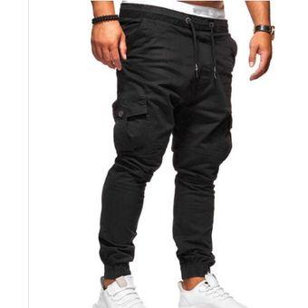 Compra Cordones de estiramiento deportivo casual pantalones hombres ... 000884264c5