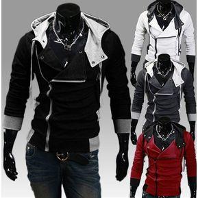 22feb56ab897d Nueva Assassins Creed Capucha Slim Fit Chaqueta Con Capucha Zip Red