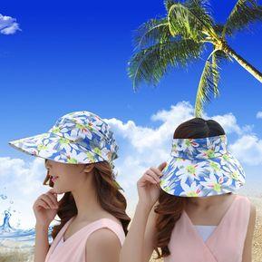e783650e34 Sombrero Para Mujer, Femenino Marea Verano Gran Sol-Azul