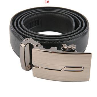 nueva productos ad090 dc5f3 EW Hebilla De Correa Automática Clásica Cuero Cinturones Para Hombres  Cinturón