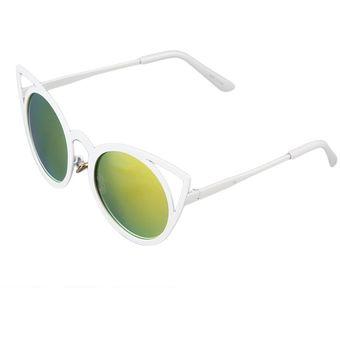 0e35843b83 Moda Mujer Moda Ojo de Gato de alta calidad Círculo UV400 gafas de sol