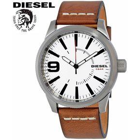 15a8a244e5ae Reloj Diesel Rasp DZ1803 Acero Inoxidable Correa De Cuero - Gris Gunmetal  Fondo Blanco
