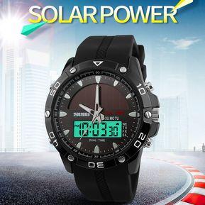 3e6c95970a28 Reloj Hombre Energía Solar Skmei Deportivo Hora Dual