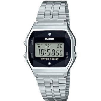 09dc66e723b9 Compra Reloj Casio Retro Vintage A159 Acero Inoxidable Diamantes ...